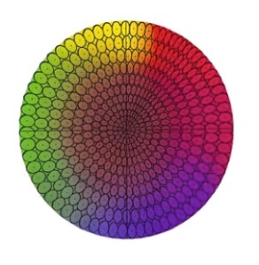 All the colors in the ellipse are perceived to be the same color by our eye. Photo Courtesy of BYK-Gardner.