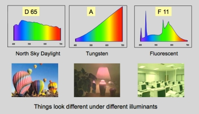 different illuminants